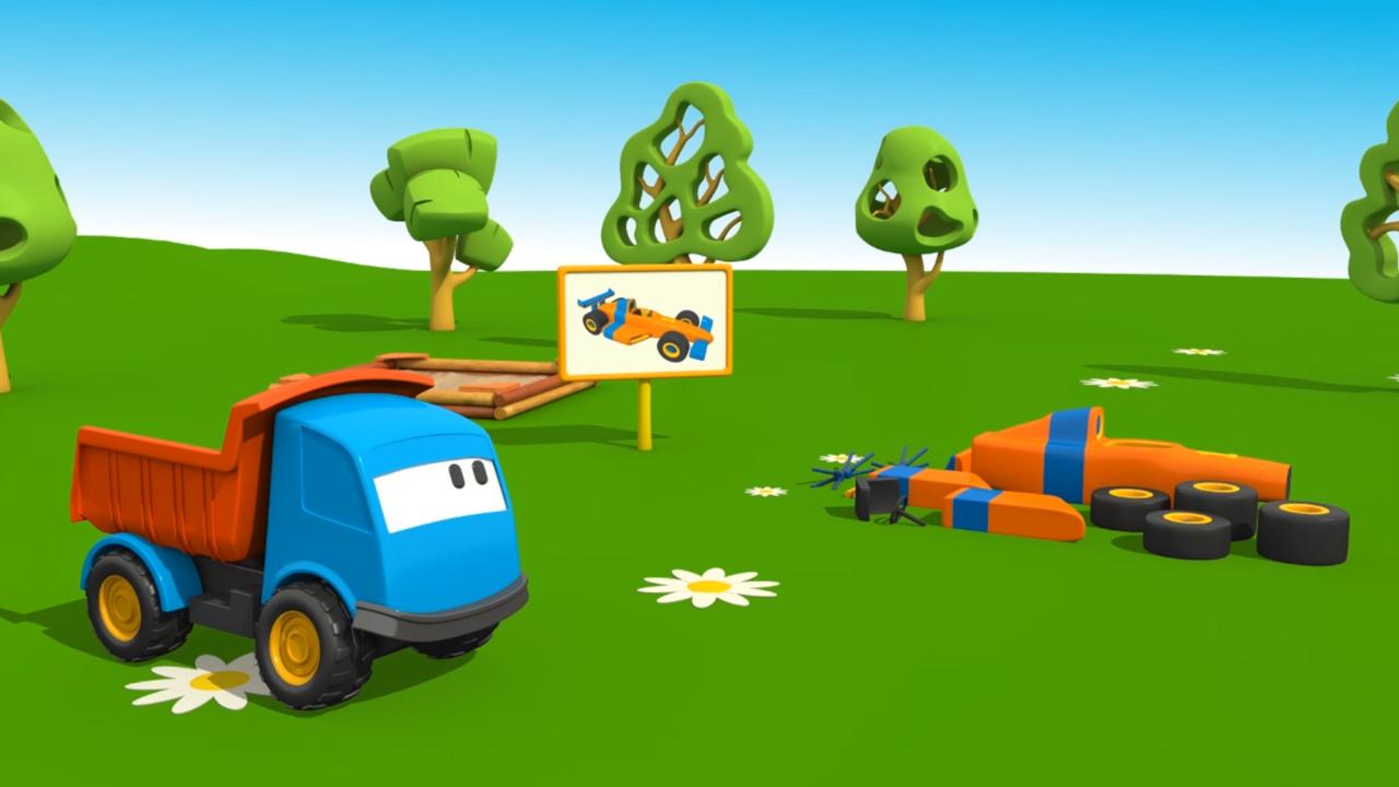 Cartoni animati per bambini u leo e le macchine sportive u il
